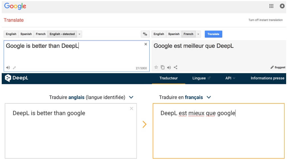 Google Translate vs. DeepL: Worthy Competitors?
