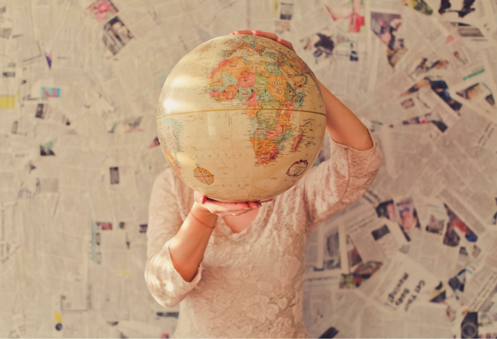 A colourful globe symbolizes the GILT process that includes globalization internationalization localization translation