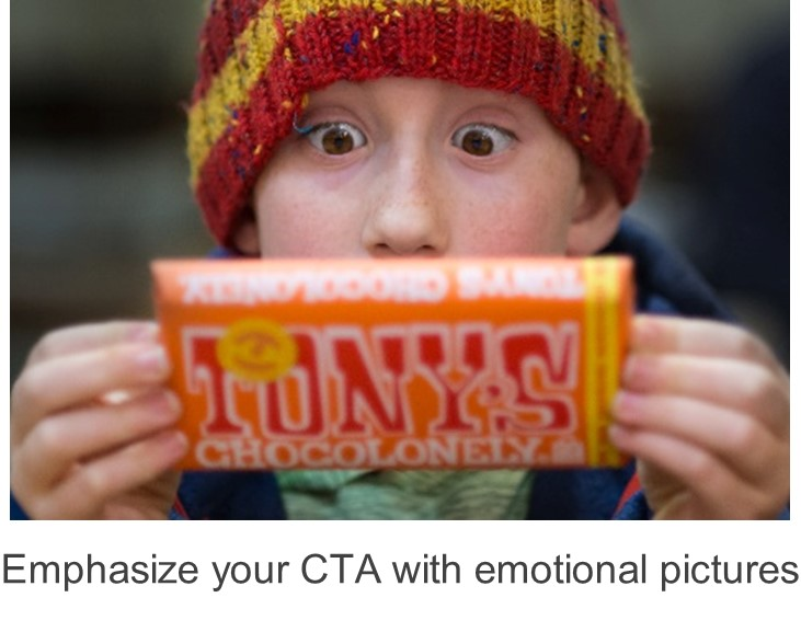 emphasize your CTA with emotional pictures