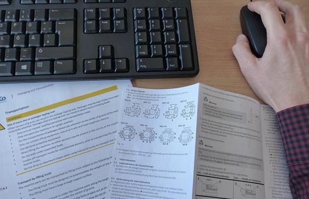 technical writing set up